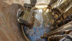 Pompe de relevage avant nettoyage - Débouchage